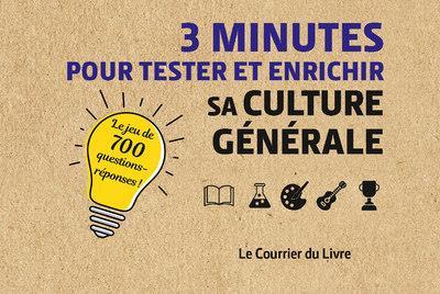 3 minutes pour tester et enrichir sa culture generale
