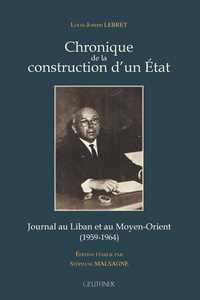CHRONIQUE DE LA CONSTRUCTION D'UN ETAT - ED. STEPHANE MALSAGNE