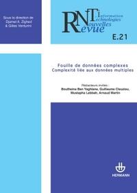 REVUE DES NOUVELLES TECHNOLOGIES DE L'INFORMATION, N  E-21. FOUILLE DE DONNEES COMPLEXES - COMPLEXIT