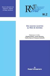 REVUE DES NOUVELLES TECHNOLOGIES DE L'INFORMATION, N  W.2 - DES SOURCES OUVERTES AU WEB DE DONNEES