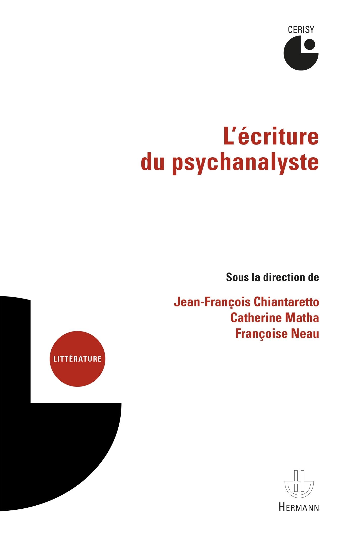 L'ECRITURE DU PSYCHANALYSTE