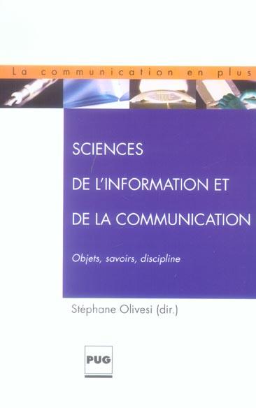 SCIENCES DE L'INFORMATION ET DE LA COMMUNICATION