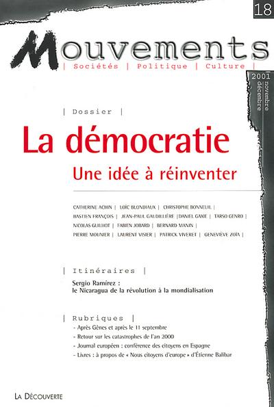 REVUE MOUVEMENTS NUMERO 18 LA DEMOCRATIE, UNE IDEE A REINVENTER