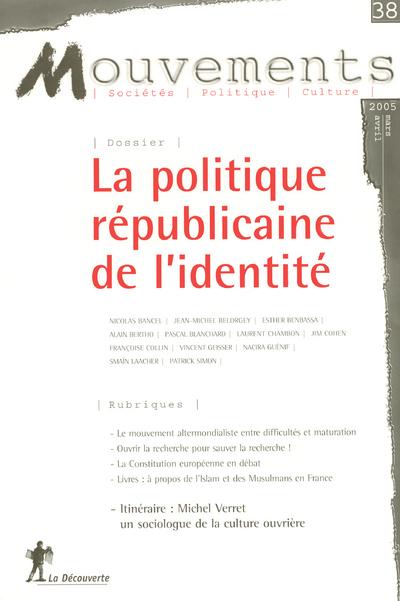N38 MOUVEMENTS  POLITIQUE REPUBLICAINE DE L IDENTITE