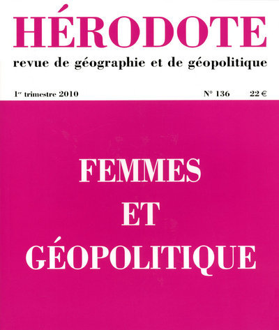 HERODOTE N136 FEMMES ET GEOPOLITIQUE