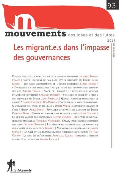 REVUE MOUVEMENTS NUMERO 93 LES MIGRANT.E.S DANS L'IMPASSE DES GOUVERNANCES