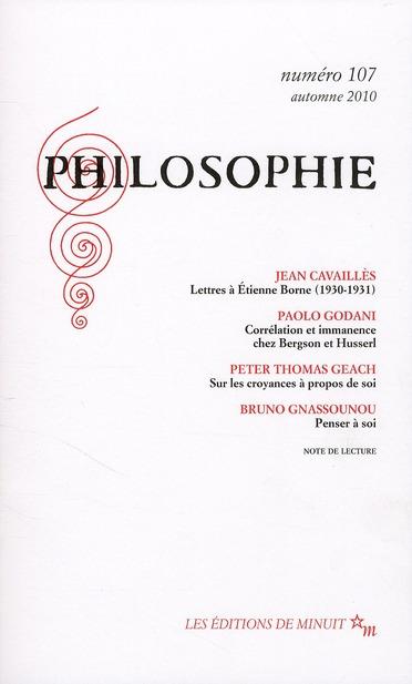 PHILOSOPHIE 107