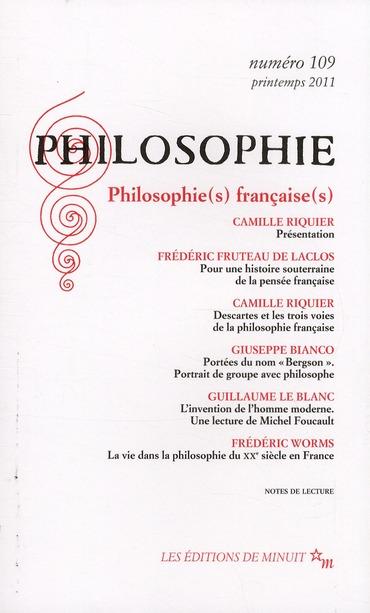 PHILOSOPHIE 109