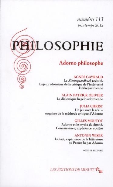 PHILOSOPHIE 113