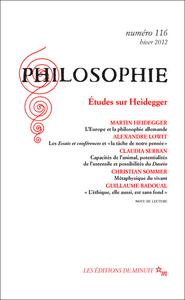 PHILOSOPHIE 116