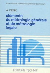 ELEMENTS DE METROLOGIE GALE