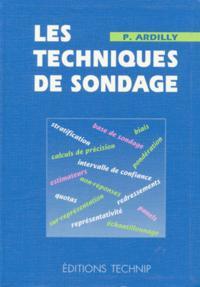 TECHNIQUES DE SONDAGE (LES)