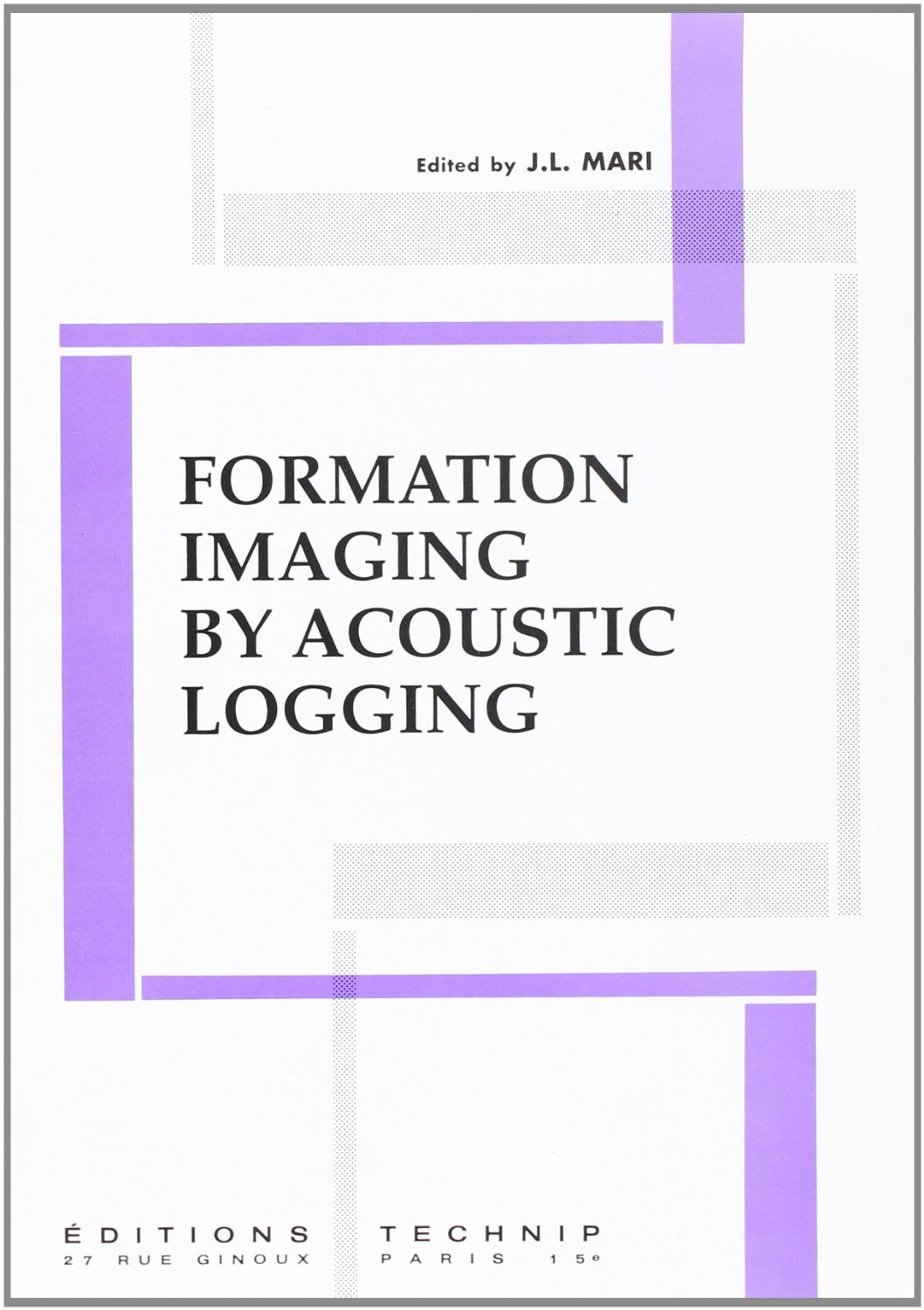 FORMATION BY ACOUSTIC LOGGING