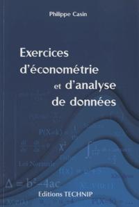 EXERCICES D ECONOMETRIE ET D'ANALYSE DE DONNEES