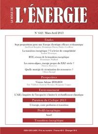 REVUE DE L'ENERGIE 612-2013