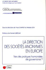 LA DIRECTION DES SOCIETES ANONYMES EN EUROPE