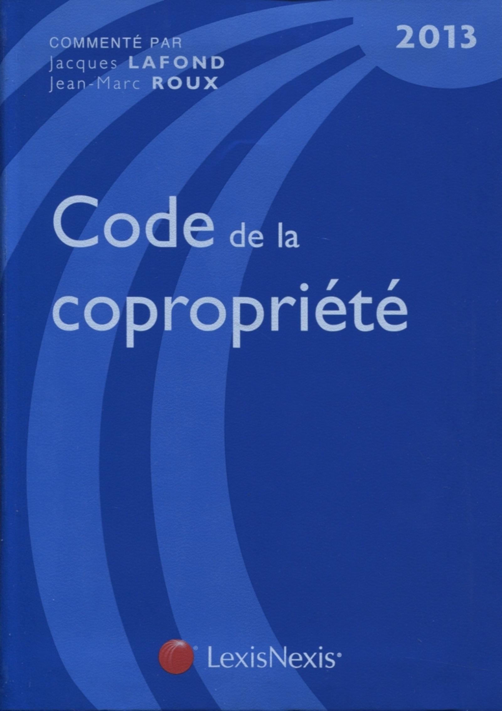 CODE DE LA COPROPRIETE 2013