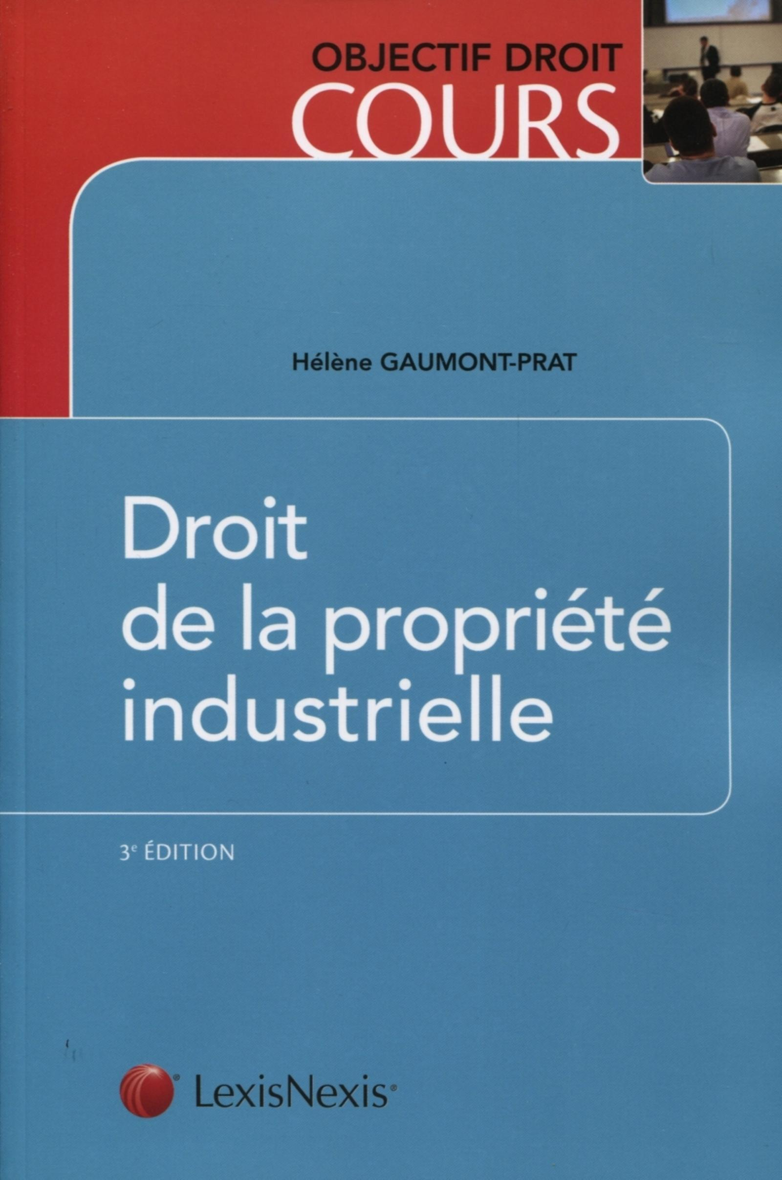DROIT DE LA PROPRIETE INDUSTRIELLE