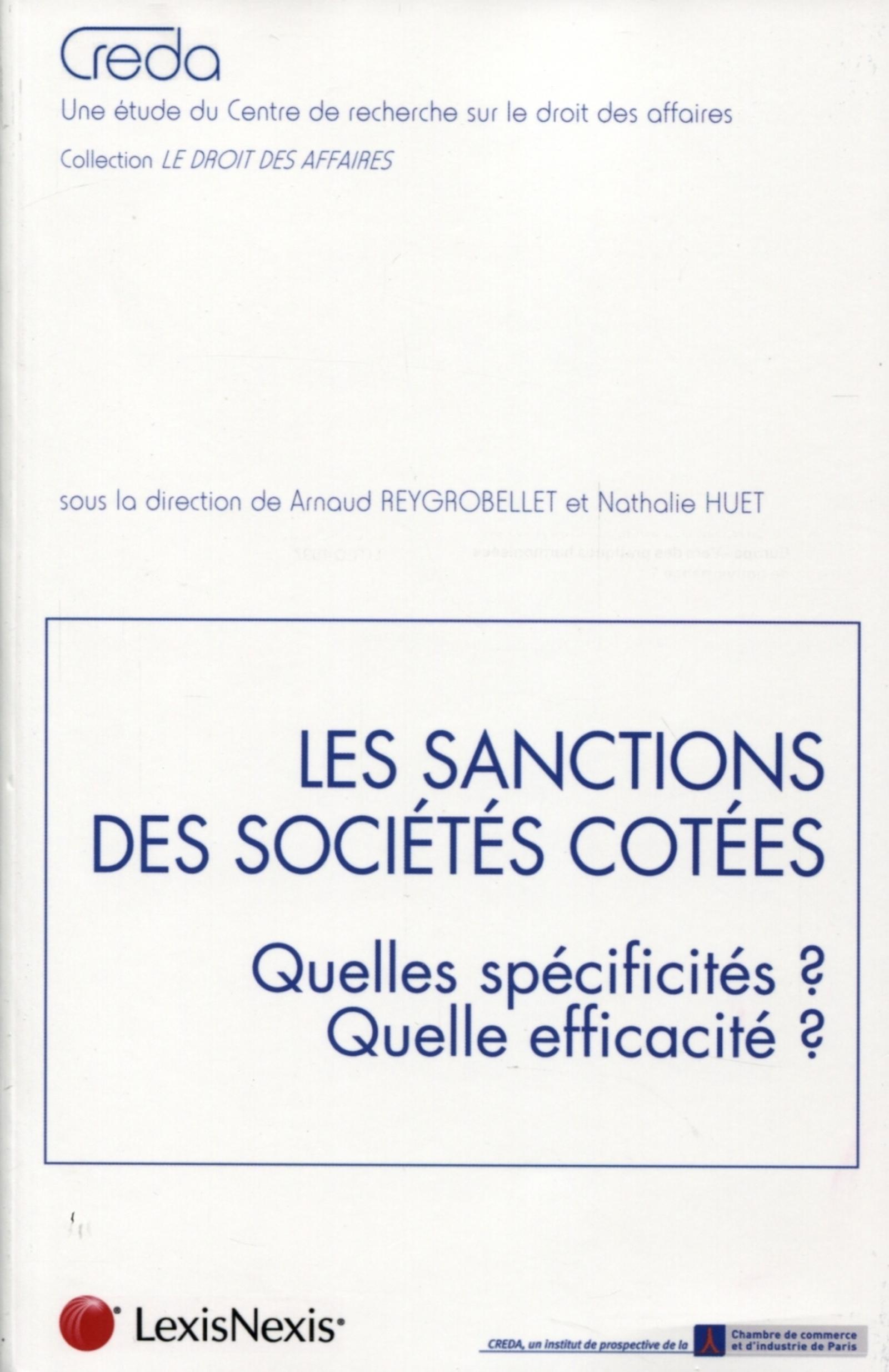 LES SANCTIONS DES SOCIETES COTEES - QUELLES SPECIFICITES ? QUELLE EFFICACITE ?
