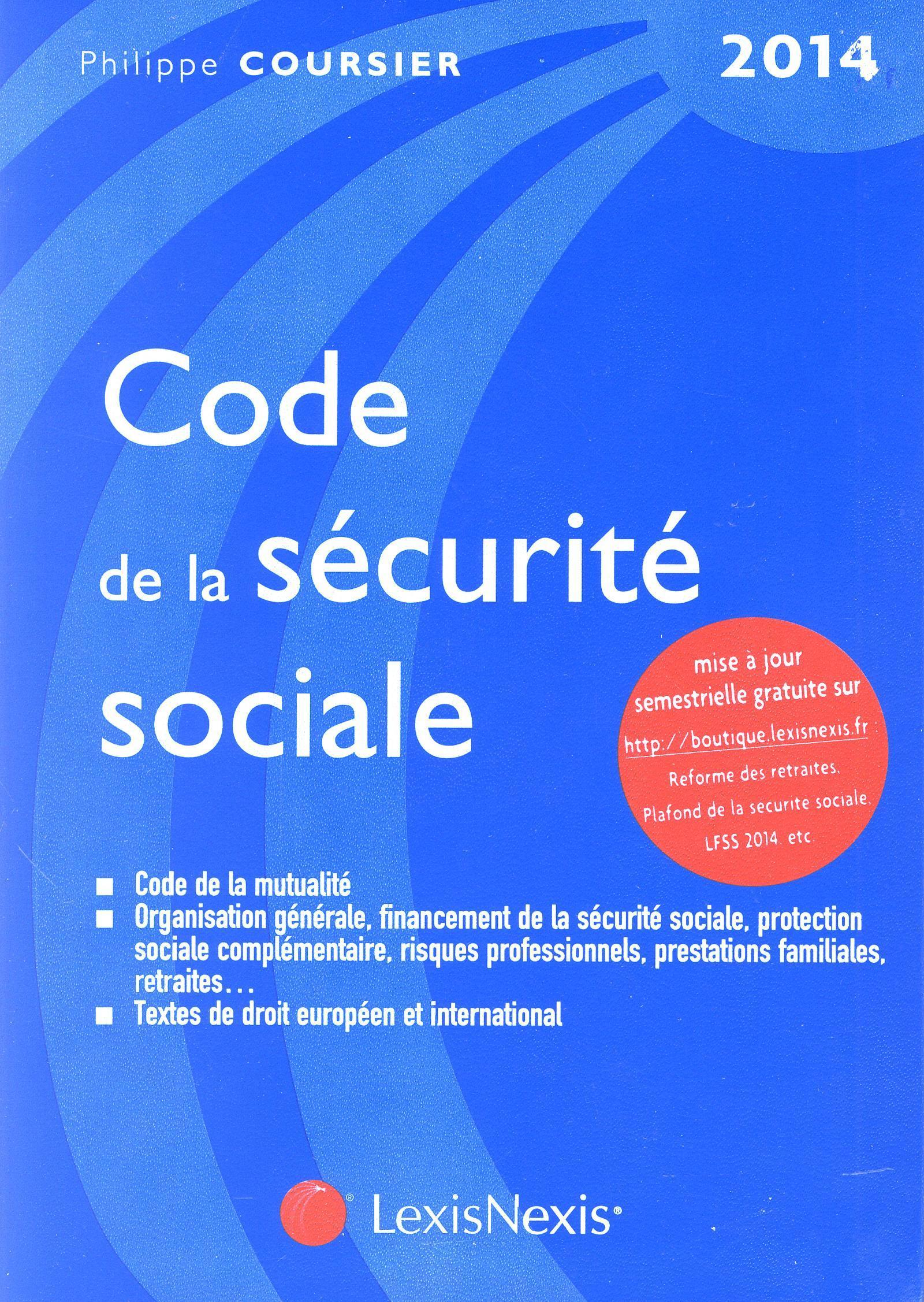 CODE DE LA SECURITE SOCIALE 2014