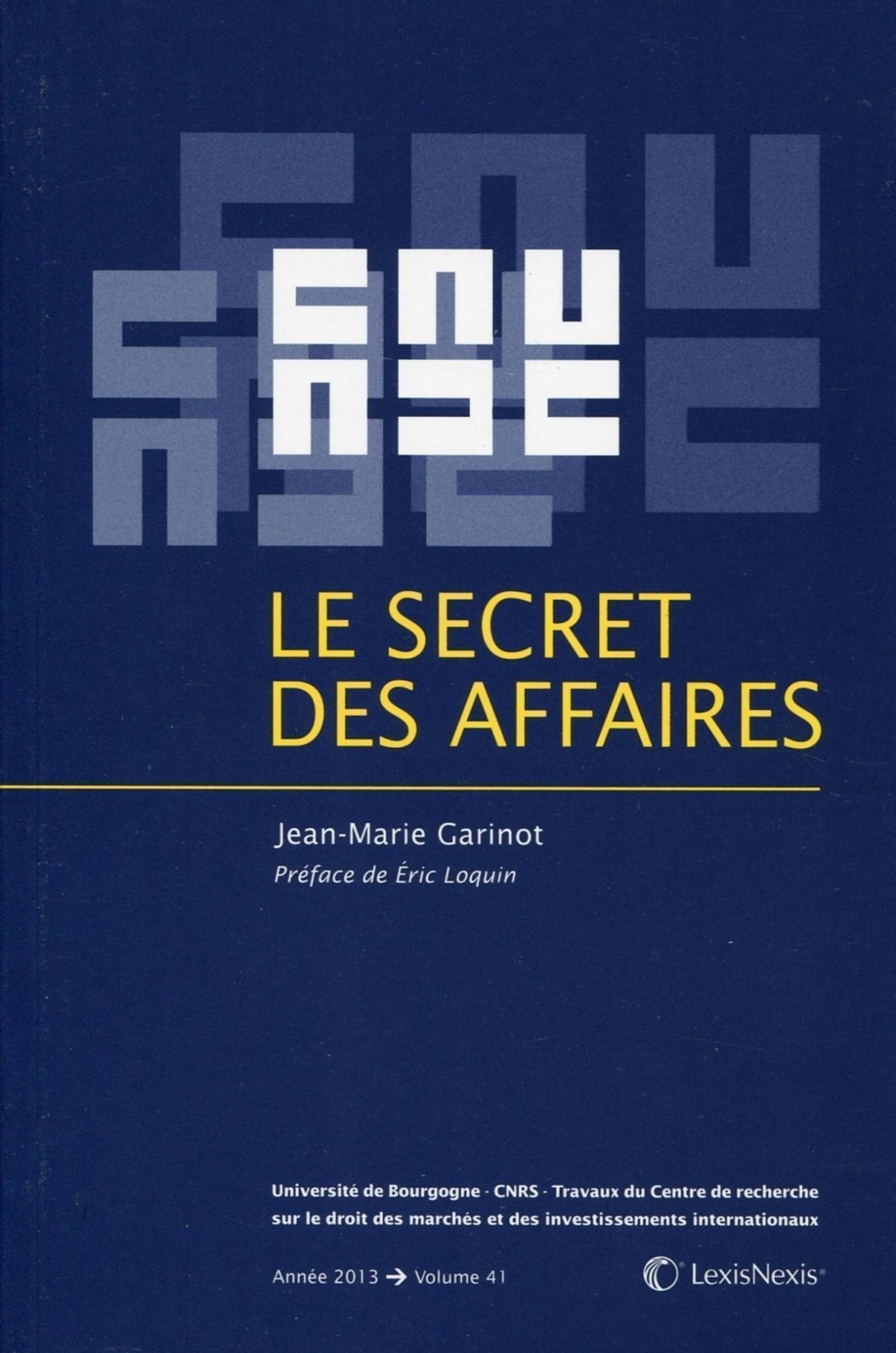 LE SECRET DES AFFAIRES - VOLUME 41.