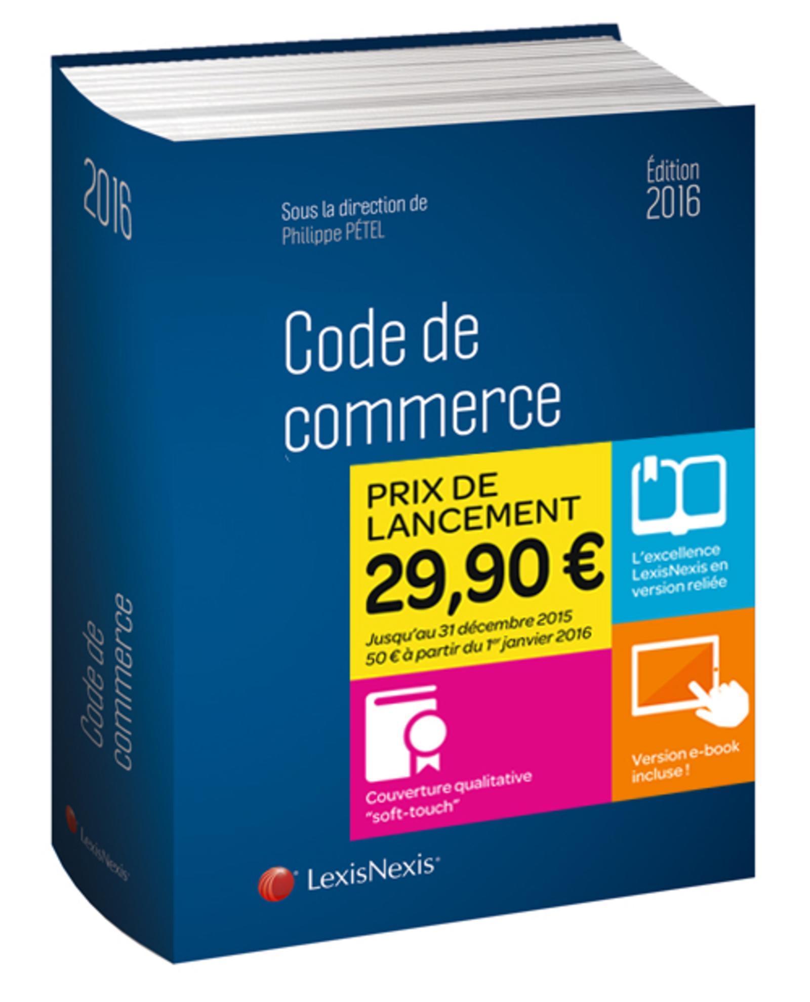CODE DE COMMERCE 2016