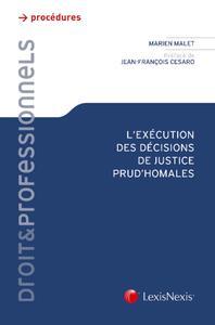 L'EXECUTION DES DECISIONS DE JUSTICE PRUD'HOMALES