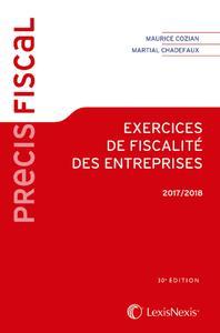 EXERCICES DE FISCALITE DES ENTREPRISES 2017 - 2018