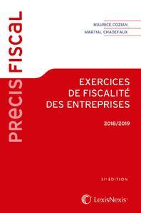 EXERCICES DE FISCALITE DES ENTREPRISES 2018 2019