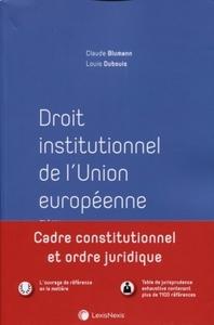 DROIT INSTITUTIONNEL DE L'UNION EUROPEENNE