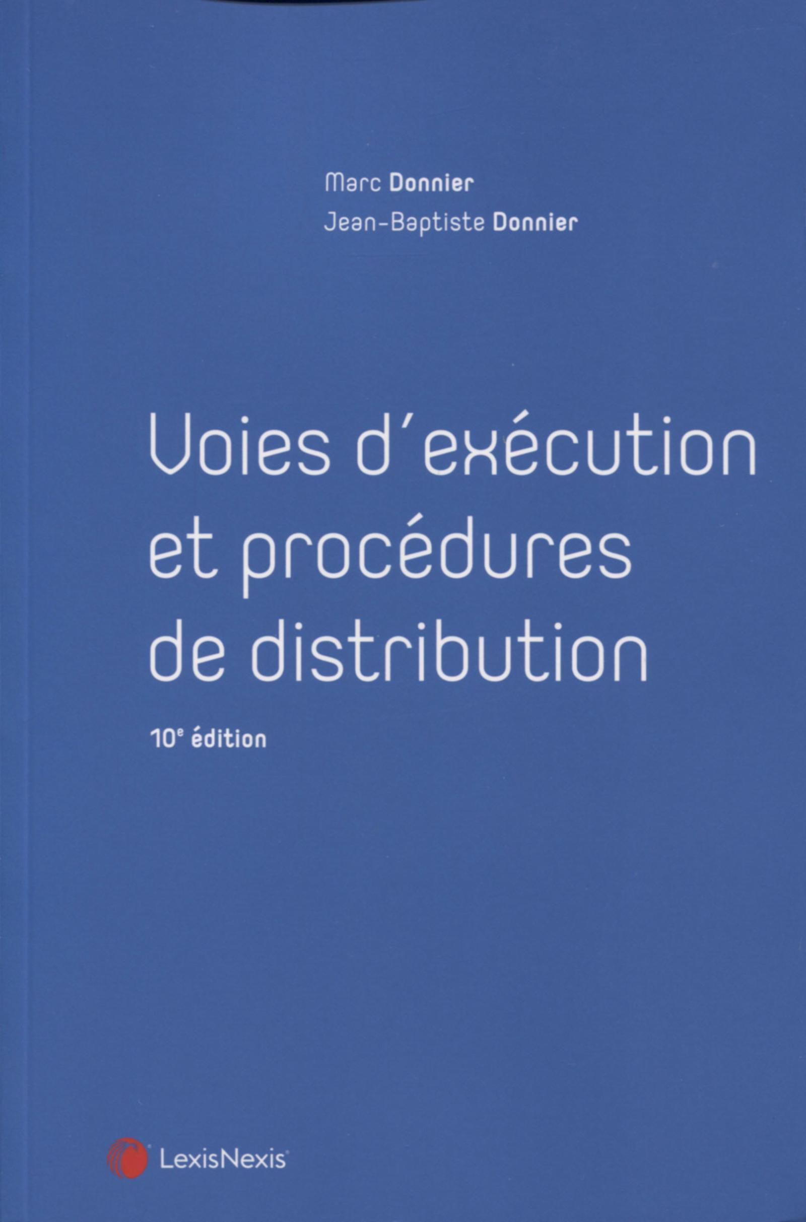VOIES D'EXECUTION ET PROCEDURES DE DISTRIBUTION