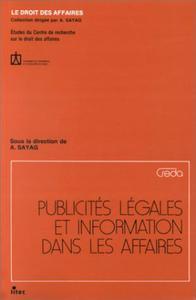 PUBLICITES LEGALES