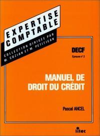 MANUEL DE DROIT DU CREDIT DECF, EPREUVE N ,2