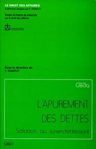 L'APUREMENT DES DETTES SOLUTION AU SURENDETTEMENT