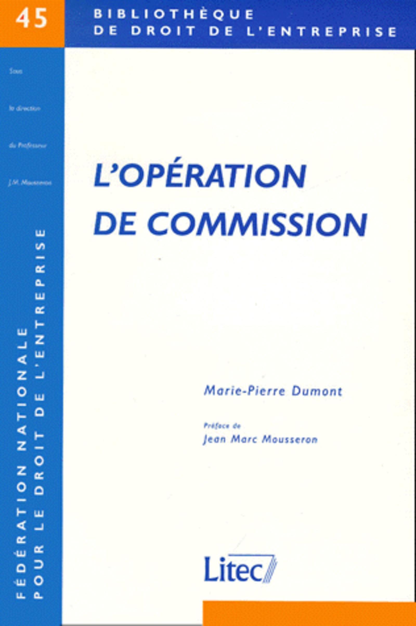 L'OPERATION DE COMMISSION