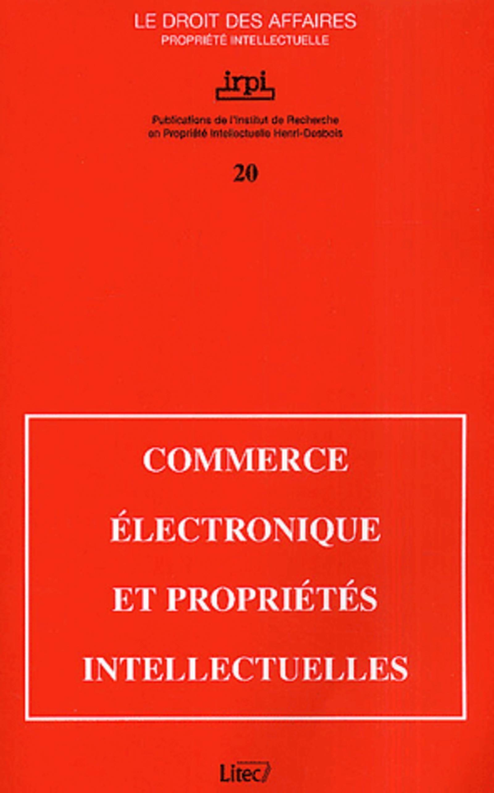 COMMERCE ELECTRONIQUE ET PROPRIETES INTELLECTUELLES