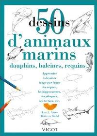 50 DESSINS ANIMAUX MARINS
