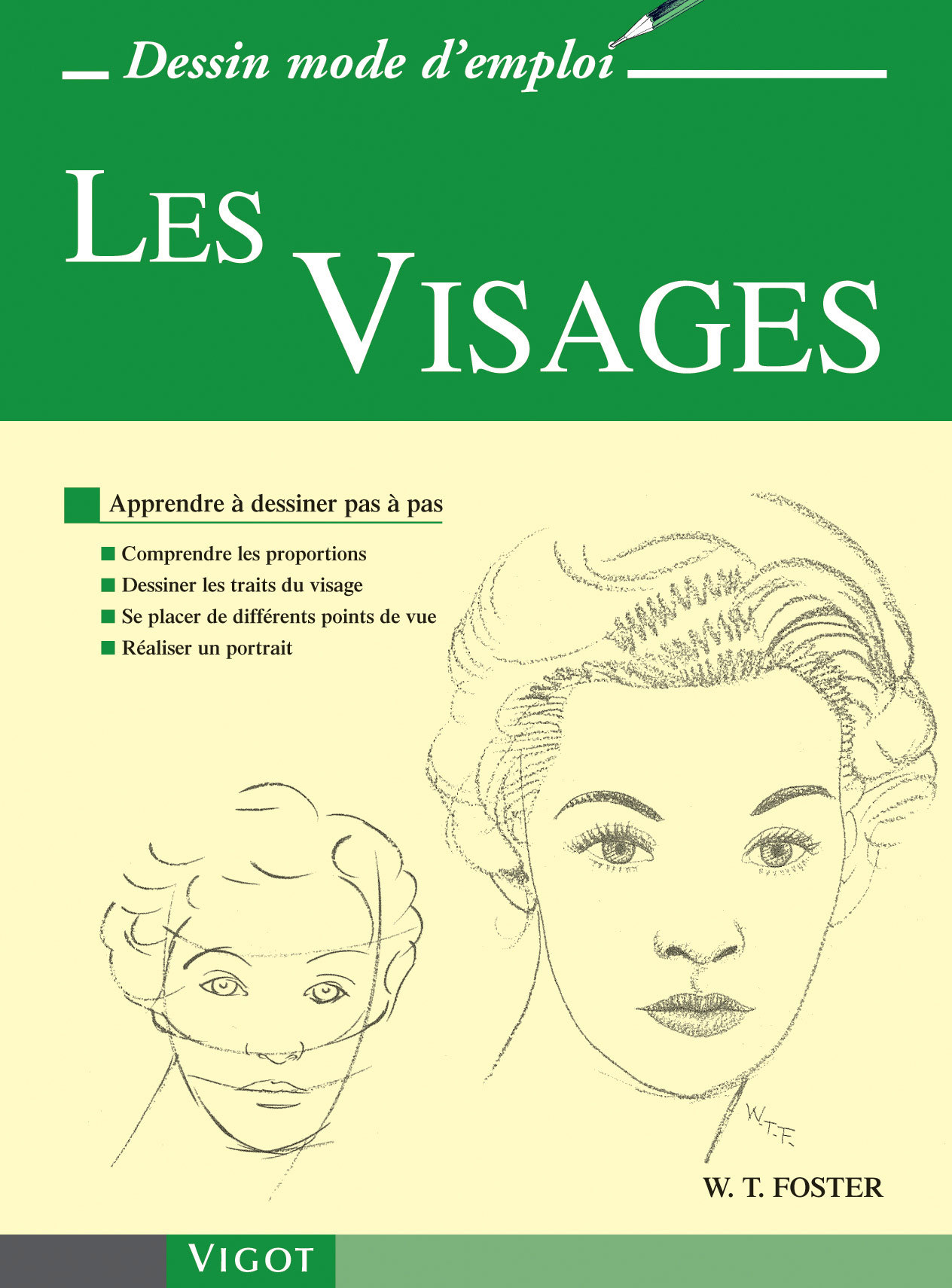 LES VISAGES - APPRENDRE A DESSINER PAS A PAS : COMPRENDRE LES PROPORTIONS, DESSINER LES TRAITS DU VI