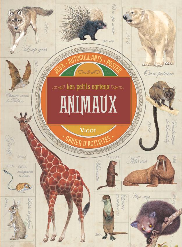 ANIMAUX - CAHIER D'ACTIVITES, JEUX, AUTOCOLLANTS, POSTER