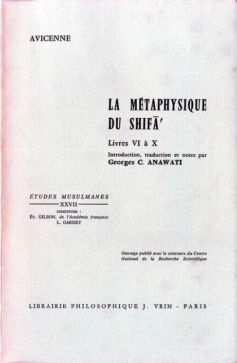 LA METAPHYSIQUE DU SHIFA T 2,  LIVRES VI A X