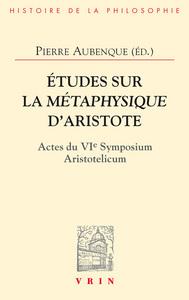 ETUDES SUR LA METAPHYSIQUE D'ARISTOTE