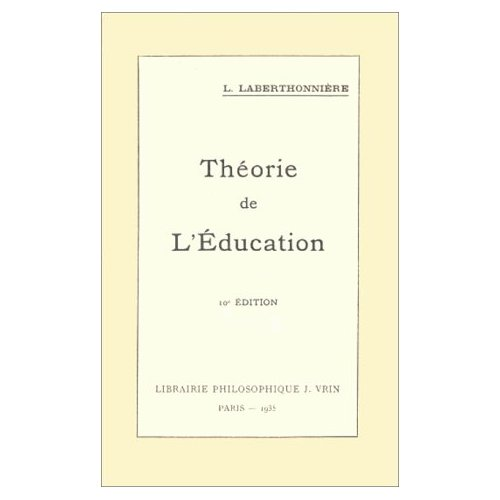 THEORIE DE L'EDUCATION