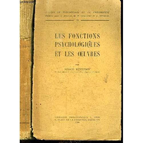 LES FONCTIONS PSYCHOLOGIQUES ET LES OEUVRES