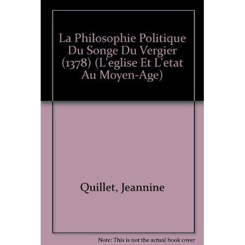 LA PHILOSOPHIE POLITIQUE DU SONGE DU VERGIER (1378)