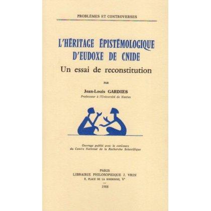 L'HERITAGE EPISTEMOLOGIQUE D'EUDOXE DE CNIDE