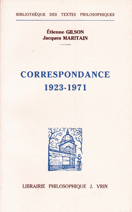 CORRESPONDANCE 1923-1971 DEUX APPROCHES DE L'ETRE