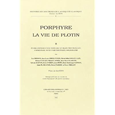 LA VIE DE PLOTIN II