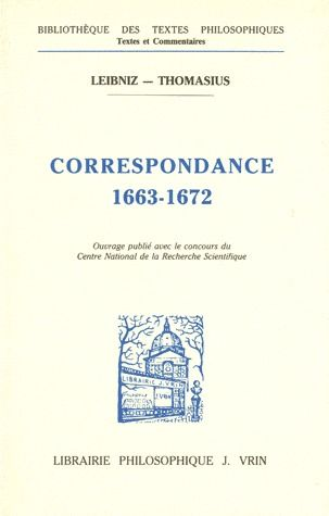 CORRESPONDANCE AVEC THOMASIUS