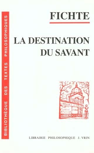 CONFERENCES SUR LA DESTINATION DU SAVANT, 1794