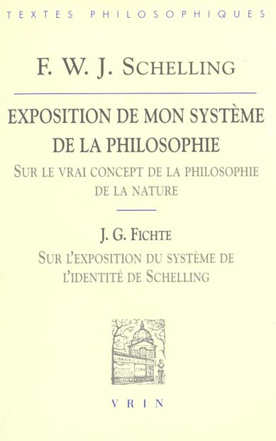 EXPOSITION DE MON SYSTEME DE LA PHILOSOPHIE